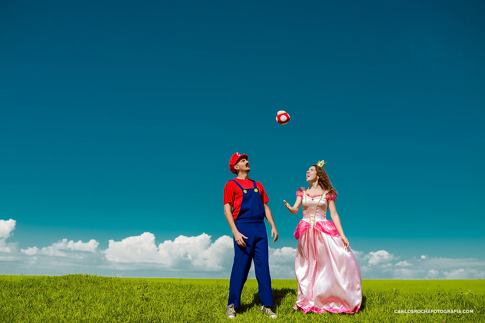 ensaio pre wedding tematico super mario world presidente prudente