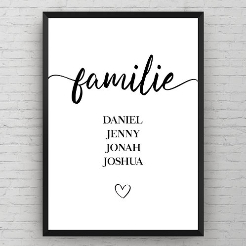 OUR FAMILY STRAIGHT POSTER