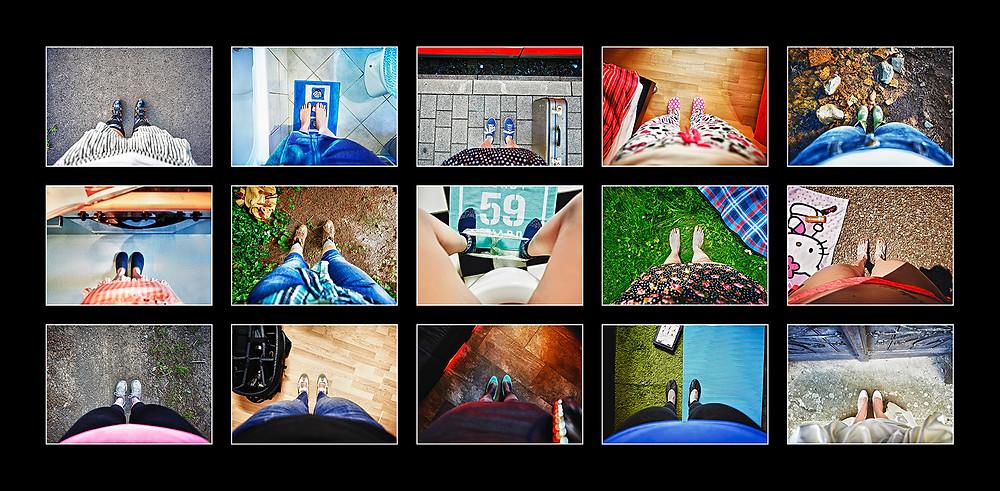 Bilderserie, Füße, Selbstportrait, Situation