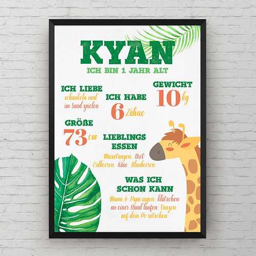 ONE YEAR OLD JUNGLE POSTER