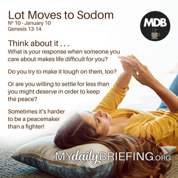 Lot Moves to Sodom