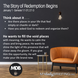 The Story of Redemption Begins