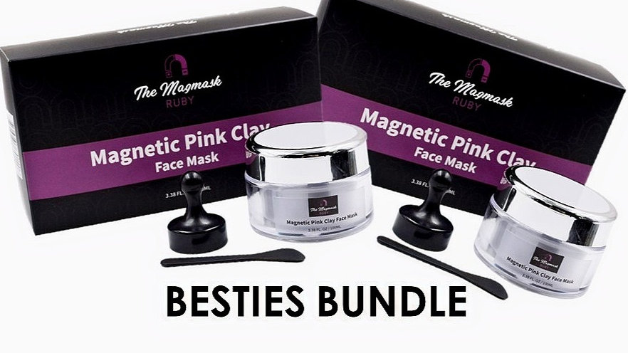 RUBY - Magnetic Pink Clay Mask (Besties Pack)