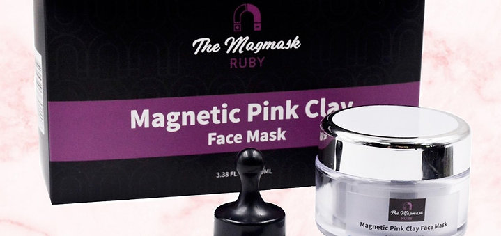 RUBY - Magnetic Pink Clay Face Mask