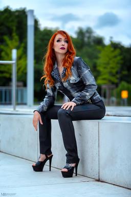Latexjacke im Jeansjacken-Style mit Futt