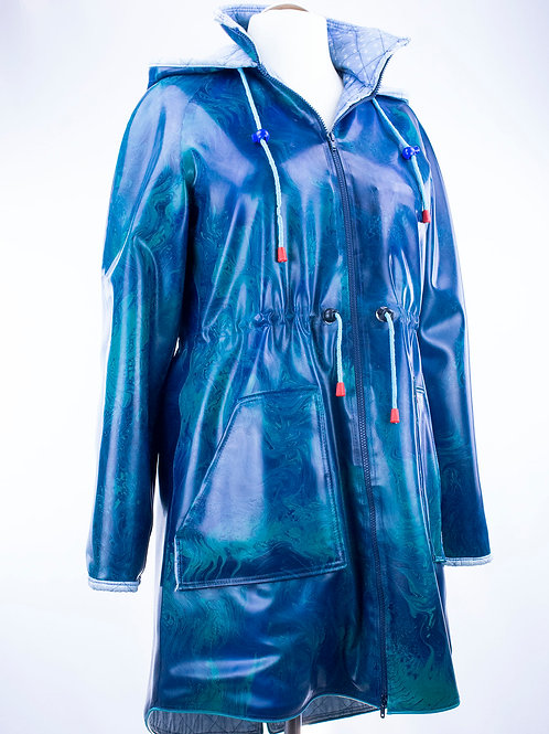 "Latexparka ""Amy"" Blau"