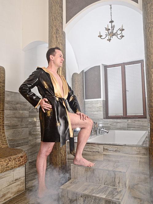 Bademantel Rocky schwarz-gold