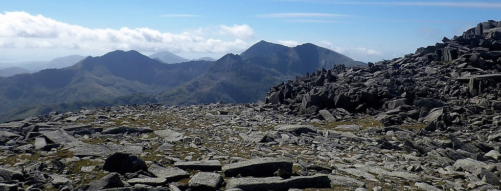 View of Snowdon Horseshoe from the Glyde