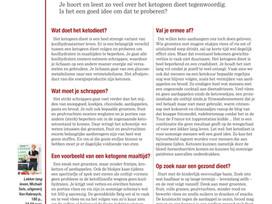 SOS Gezond: Is het ketodieet een goed idee? ( Het Nieuwsblad Mg)