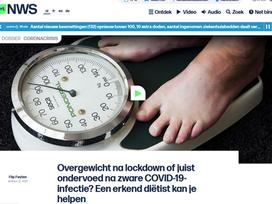 Overgewicht na lockdown of juist ondervoed na zware COVID-19-infectie? Een diëtist kan je helpen