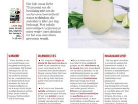 SOS Gezond: Zo leer je meer water te drinken ( Het Nieuwsblad Mg)