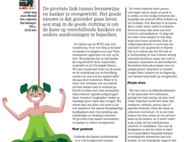 SOS Gezond: Kan ik met een gezonde levensstijl kanker voorkomen? ( Het Nieuwsblad Mg)