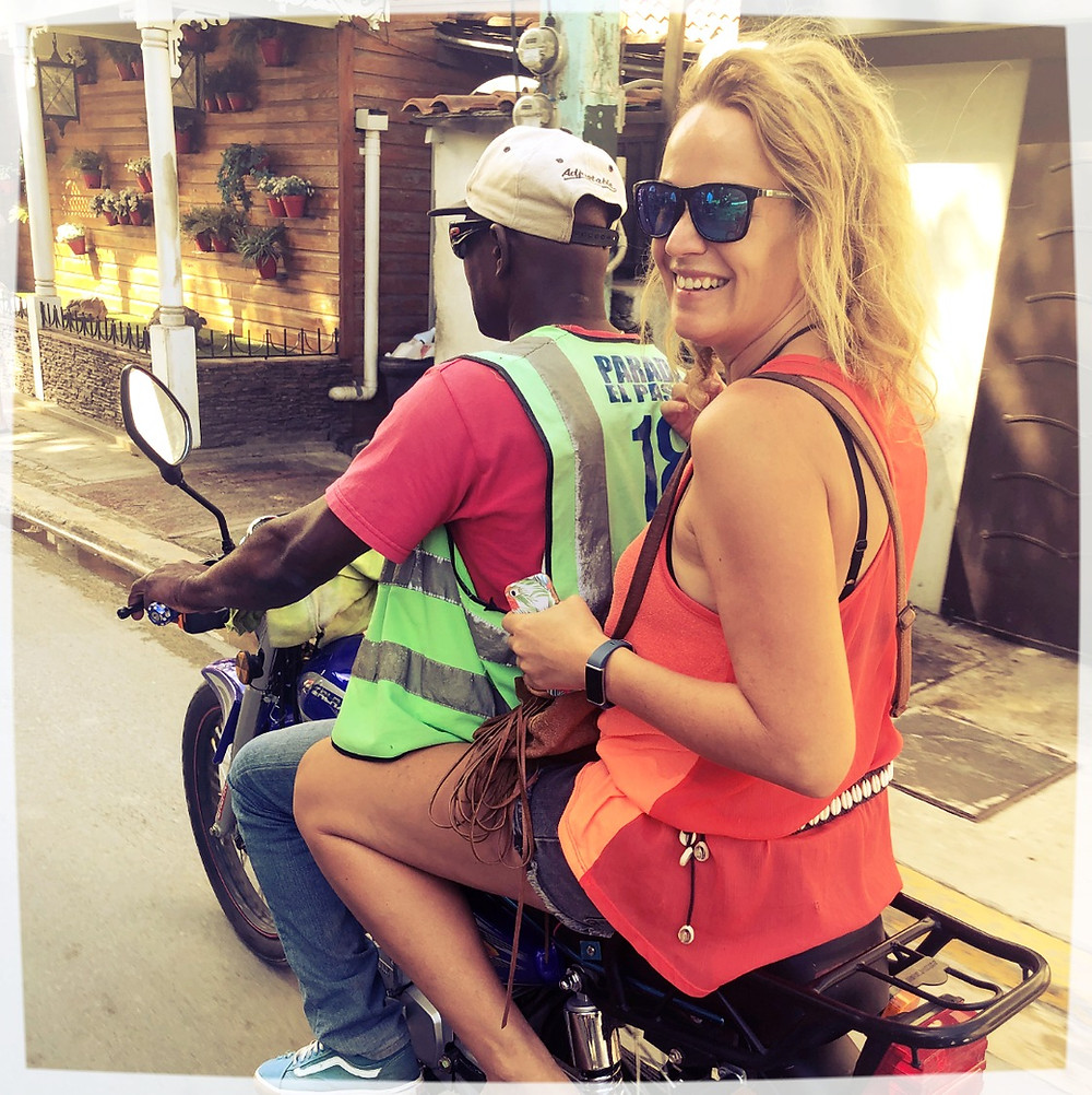 Moto taxi  concho ride in Las Terrenas