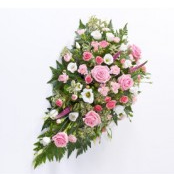 Funeral Flowers pinks and whites