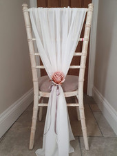 Grecian Vertical Drape with Flower