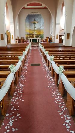 Church aisle Ceremony decoration