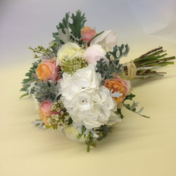 Peach and ivory wedding