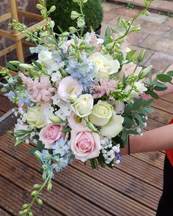 Wedding bouquet summer theme