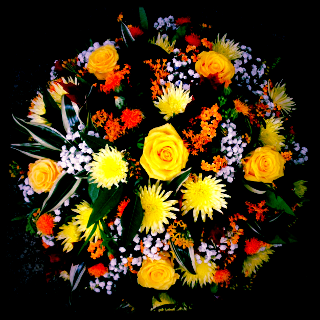 funeral posy autumn