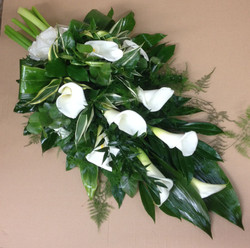 funeral flowers calla lily sheaf