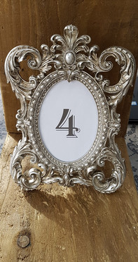 Ornate Table Number Frame