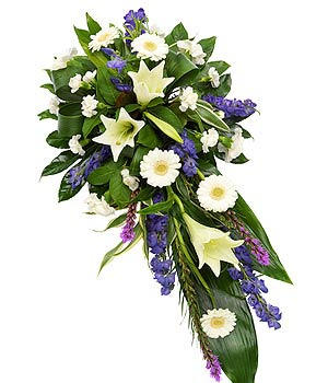 Purple & White lily spray TR13SESCLO1 2ft £60 - 3ft £90