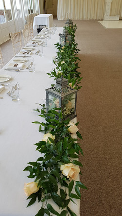 foliage lantern table runner