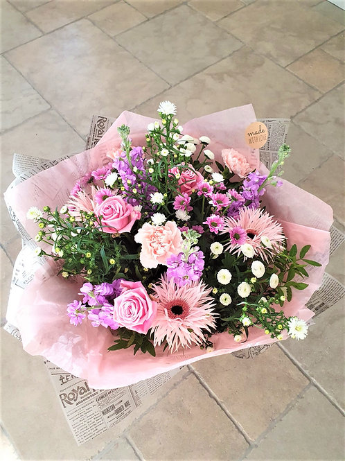 Pink & lilac gift bag