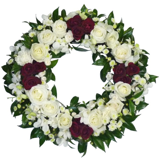 modern grouped wreath