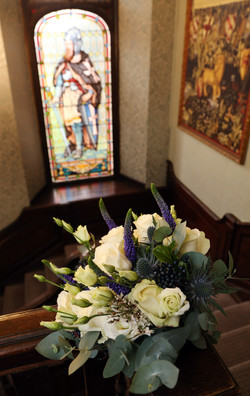 Navy blue and ivory wedding