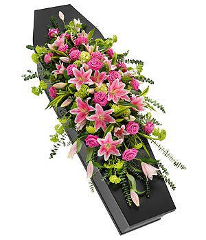 rose & lily coffin spray TR13CASSF03M 2ft - 5ft - £60 per ft