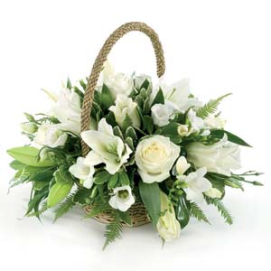 funeral pure and simple basket