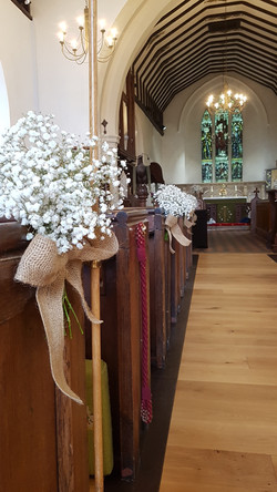 Rustic pew ends