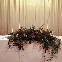 Rich floral arrangement