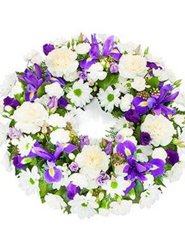 Blue & white wreath