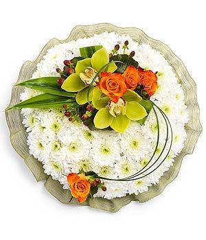 """Rose & orchid posy TR13PSYWM01M 10"""" £39.95 12"""" £44.95 14"""" £49.95"""