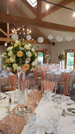 peach and ivory flowers