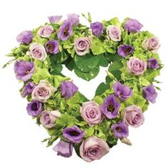 lilac and mauve wreath