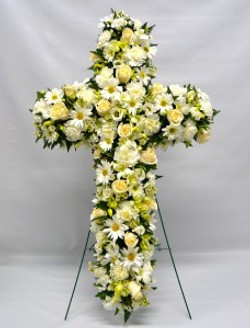 funeral flowers loose cross