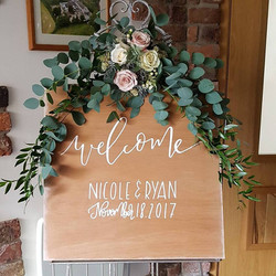 Welcome  to our wedding signage