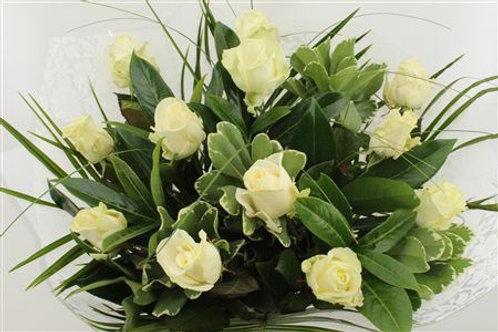 White Roses Handtied