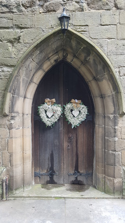 Church door decor