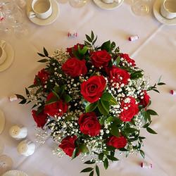 Romantic red vase