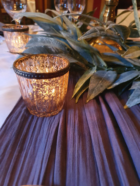 Harlquin rose gold votive