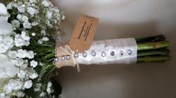 Finishing touches wedding bouquet