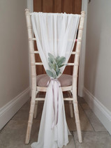 Grecian Vertical Drape With Foliage