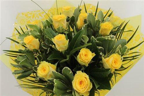 Yellow Roses Handtied