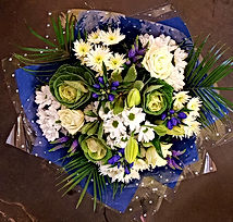 Blue and White Handtied