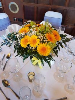 Sunny vase flowers