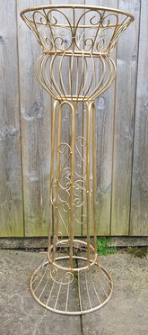 Decorative Wire Gold Plinth 3ft